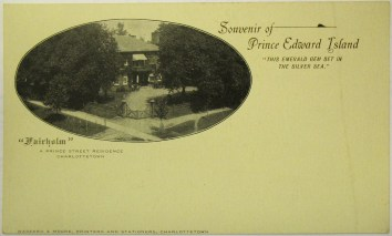 """""""Fairholm"""", A Prince Street Residence, Charlottetown. PARO Accession 3999 item 1"""