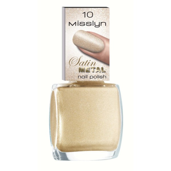 misslyn satin metail nail polish gold plate