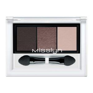 misslyn high shine trio eyeshadow almost chocoholic