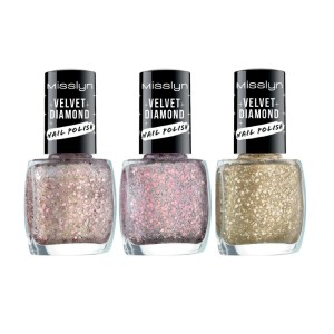 misslyn velvet diamond nail polish numbers 34, 38 and 55