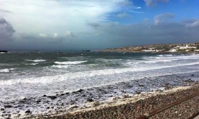 Das Meer bei Gairloch im starken Wind