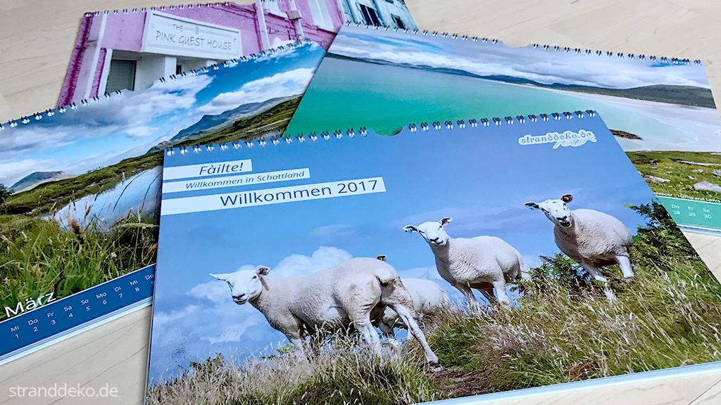 kalender2017 - Verlosung 20x Schottland-Stranddeko-Kalender 2017