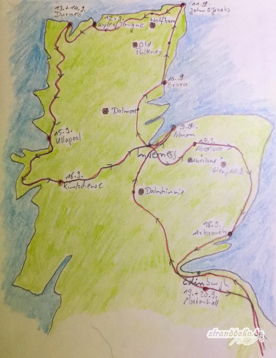 Schottland Karte 3313 - Mit dem Wohnmobil durch Schottland - der Überblick