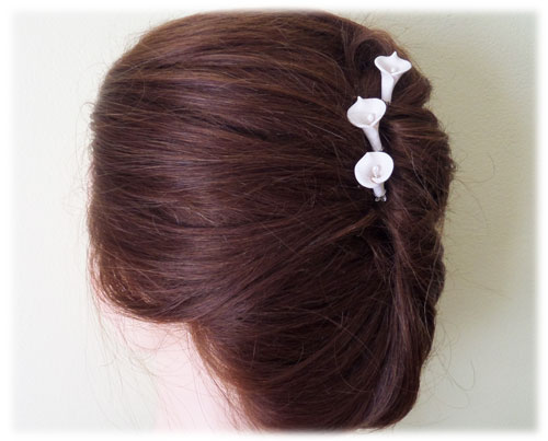 White Calla Lily Hair Pins White Calla Lily Hair Clips