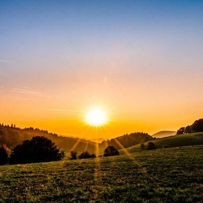 Herbstlicher Sonnenuntergang in Buchklingen