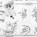Floral Embroidery Sprays From 1915
