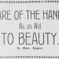 Hand Care For Beauty From 1898