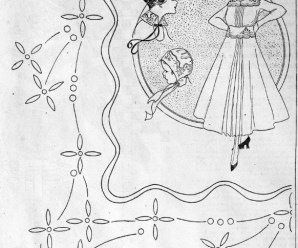 Embroidery Design From 1915 For Trimming A Baby Bonnet And Girl's Dress