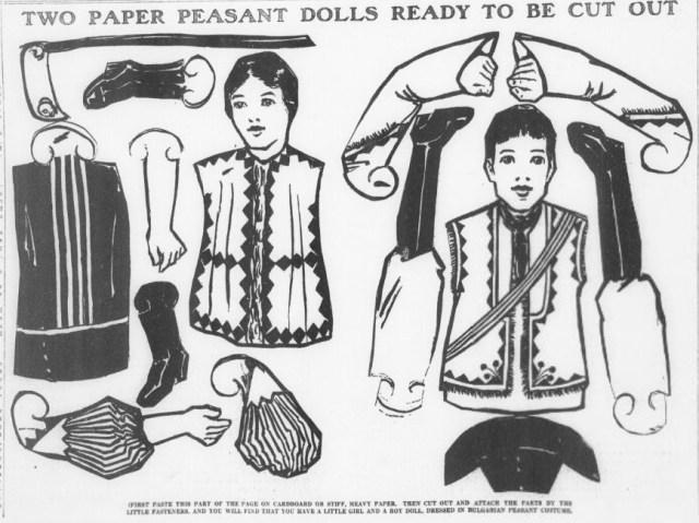Bulgarian Paper Dolls