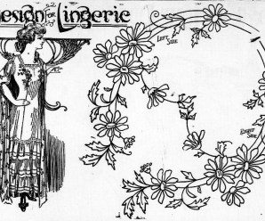 Embroidery Design For Lingerie From 1911