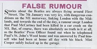 False Rumour