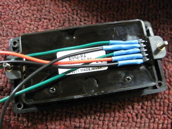 EMG Solderless Wiring