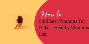 Healthy Vitamins List