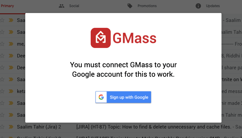 Gmass connect