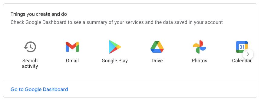 google dashboard
