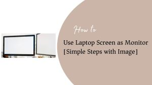 Use Laptop Screen as Monitor