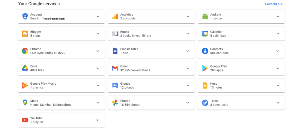 google account apps