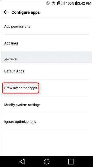 draw over others apps configure
