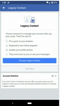 legacy on facebook