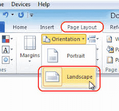 page layout option
