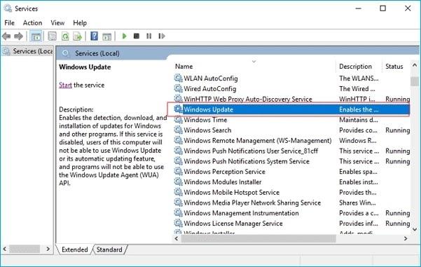 window updates services