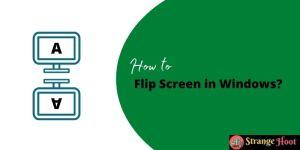 Flip Screen in Windows