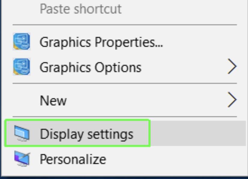 Display setting