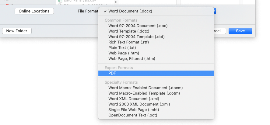 reduce pdf size in MS Word
