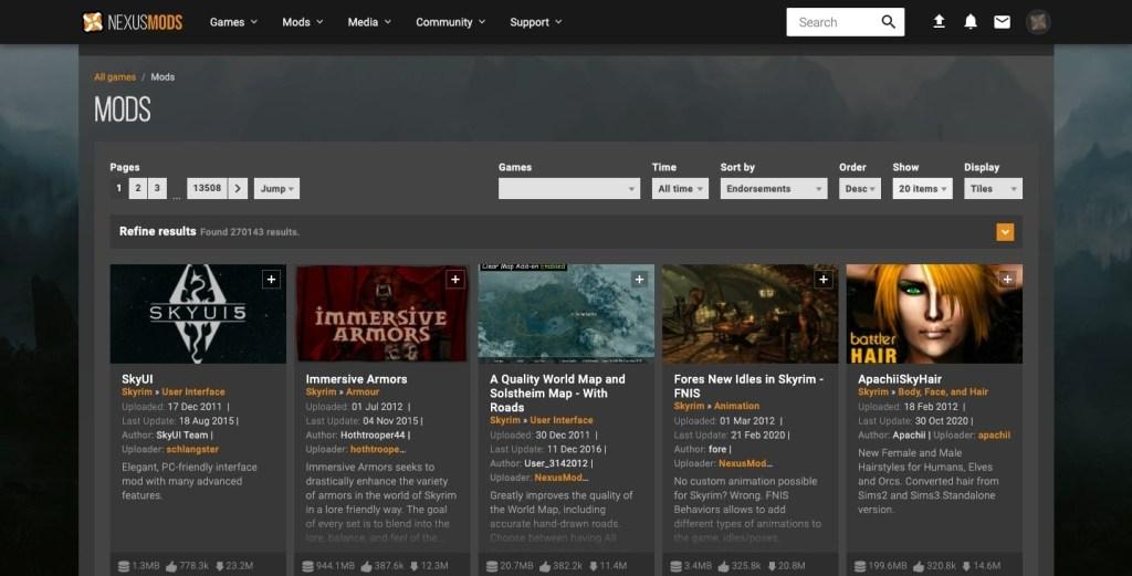 nexusmods website