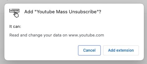 Youtube Mass unsubscribe