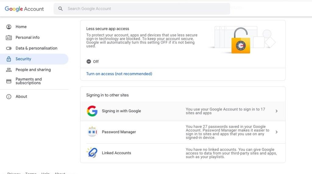 access settings