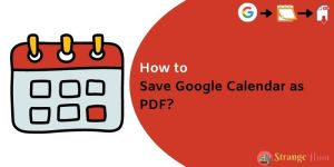 Save Google Calendar as PDF