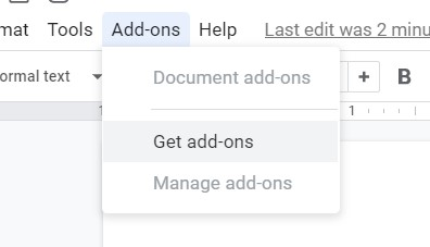click Get add-ons from menu