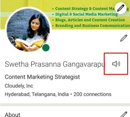 LinkedIn Profile Add Name Pronunciation