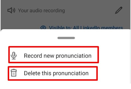 LinkedIn Edit Add Name Pronunciation