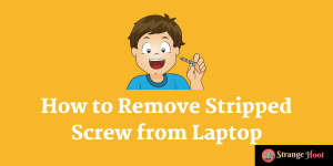 How to Remove Stripped Screw from Laptop