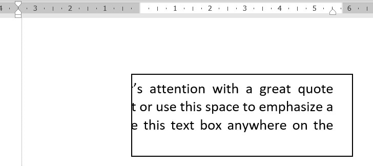 change left right alignment in textbox in MS word