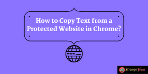 How to Copy Text from a Protected Website in Chrome