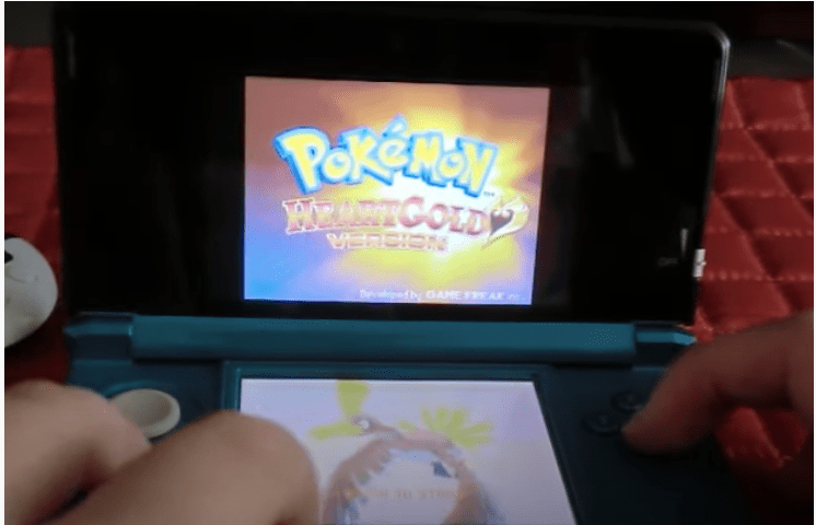 Select Pokemon HeartGold to start the game.