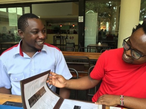 Richard Oduor Oduku (left) and Moses Kilolo