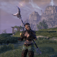 video game avatar, a woman in a fantasy landscape