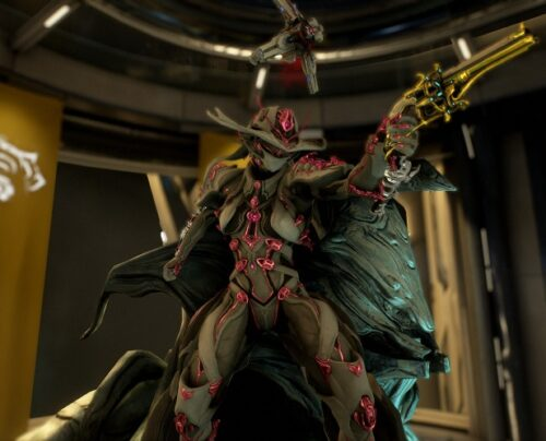 video game avatar, a robotic exoskeleton with a cape and cowboy hat