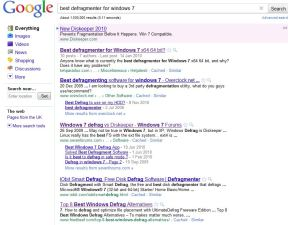 Defrag Search Results