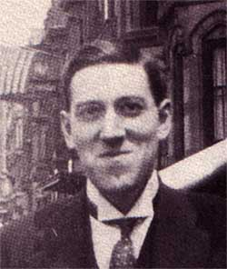H P Lovecraft smiling