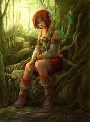 Elf in a Forest