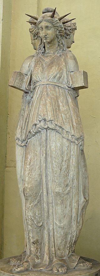 Τρίμορφη αναπαράσταση της Εκάτης. Ρωμαϊκό αντίγραφο πρωτοτύπου της ελληνιστικής περιόδου.