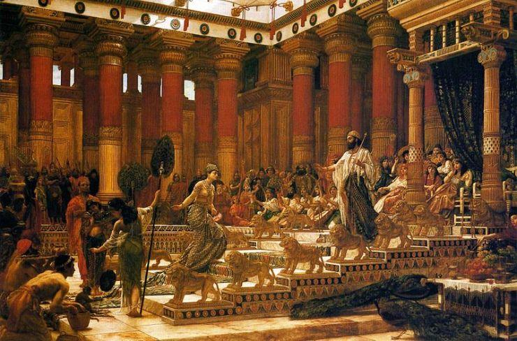 Ο Βασιλιάς Σολομώντας, υποδεχόμενος τη Βασίλισσα του Σαβά