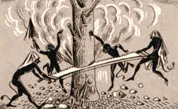 Οι Καλικάντζαροι, ροκανίζοντας το δέντρο της Γης