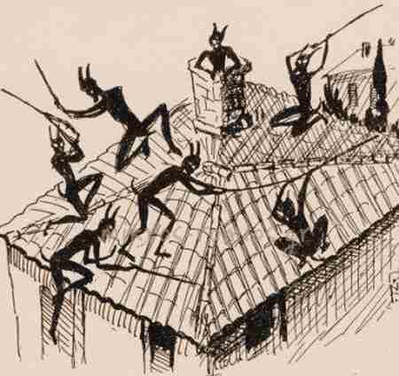 Οι Καλικάντζαροι, εισβάλλοντας στα σπίτια