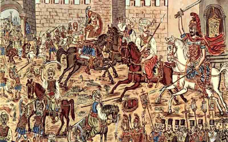 Ο Πύρινος Ιππότης που προστάτευε τον Αυτοκράτορα Κωνσταντίνο Παλαιολόγο...